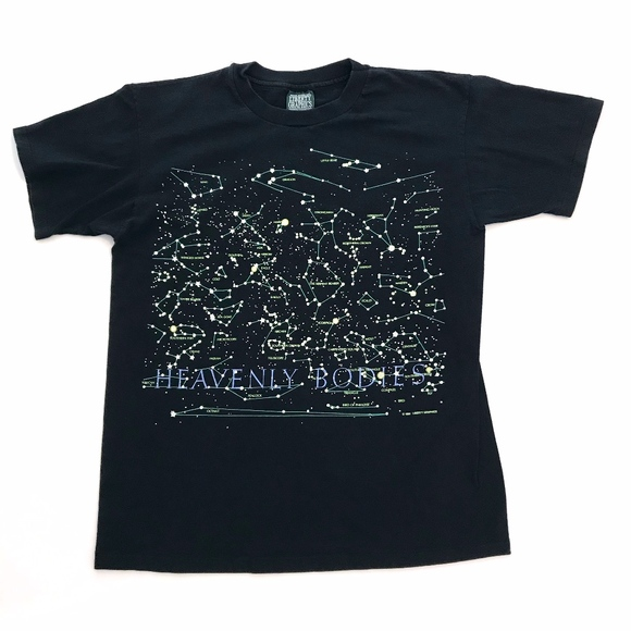 Vintage Other - Vntg 90s mens womans L t shirt constellation glows